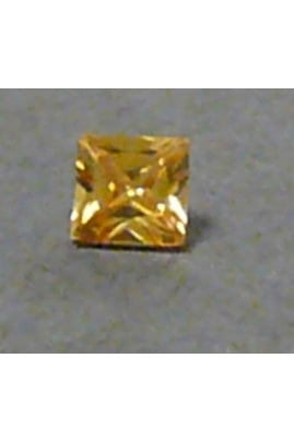 Champaigne-Color Cubic Zirconia Square 5mm