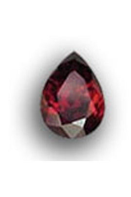 Garnet-Color Cubic Zirconic Pear Shape 5mmx7mm