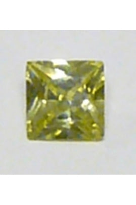 Apple-Green Cubic Zirconia Square 6mm