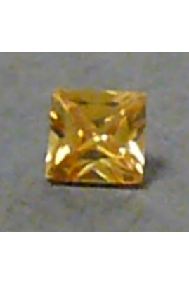Champaigne-Color Cubic Zirconia Square 6mm