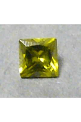Olivine Cubic Zirconia Square 6mm