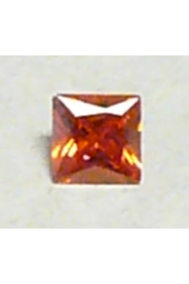 Orange Cubic Zirconia Square 6mm