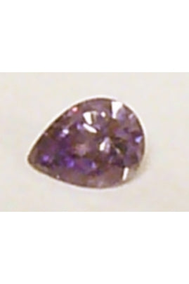 Violet Cubic Zirconia Pear Shape 6mmx8mm