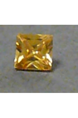 Champaigne-Color Cubic Zirconia Square 7mm