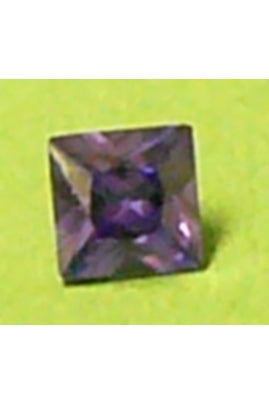 Amethyst-Color Cubic Zirconia Square 7mm