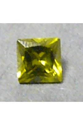 Olivine Cubic Zirconia Square 7mm