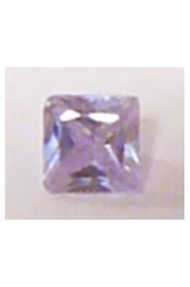 Light Lavendar Cubic Zirconia Square 7mm
