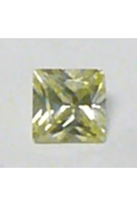 Light Apple-Green Cubic Zirconia Square 7mm