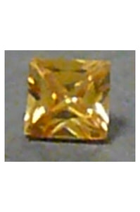 Champaigne-Color Cubic Zirconia Square 8mm