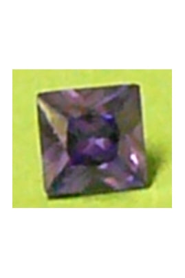 Amethyst-Color Cubic Zirconia Square 8mm