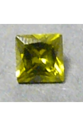 Olivine Cubic Zirconia Square 8mm