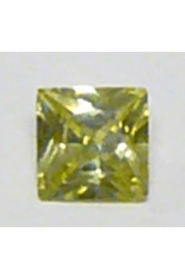 Apple-Green Cubic Zirconia Square 8mm