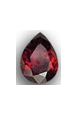 Garnet-Color Cubic Zirconia Pear Shape 8mmx10mm