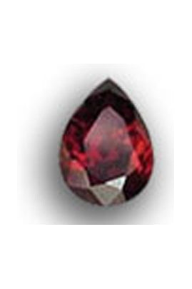 Garnet-Color Cubic Zirconia Pear Shape 8mmx9mm