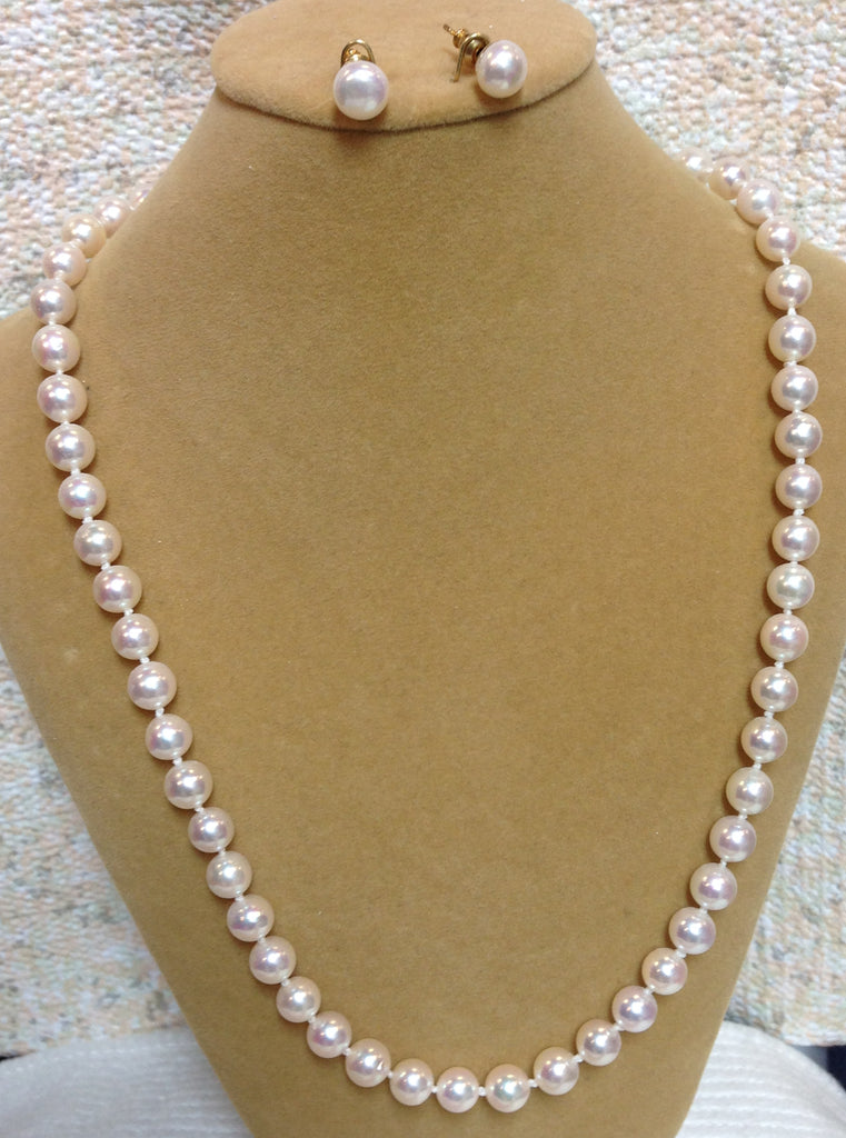 Akoya 7mm Pearl Necklace Set