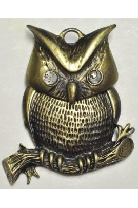 Sitting Owl Charm (50mmx44mm) #OWL-4