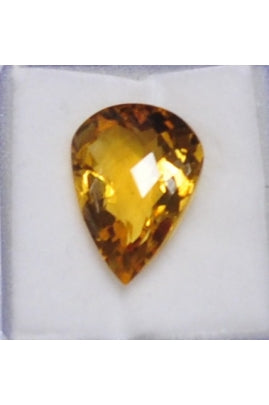 Citrine Tear Drop Stone 16mmx12mm (7.31 cts)