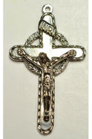 Silver Cross with Jesus Christ Charm (43mmx27mm) - SJC