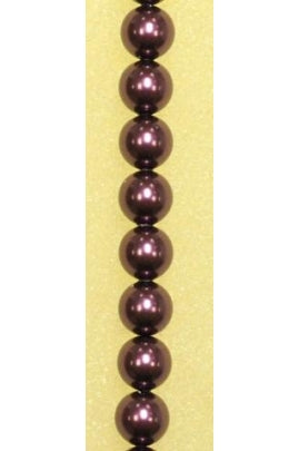 Crystal Burgundy Swarovski Pearl 6mm