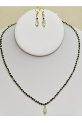 Cute Mangalsutra with Swarovski Drops and 24Kt Gold-Plated Beads