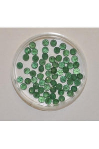 Emerald Round Shape Stone 4mm (Sold per 1 single stone) and size may vary