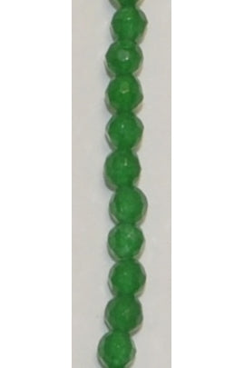 Faceted Emerald-Green Quartz 4mm-4.5mm
