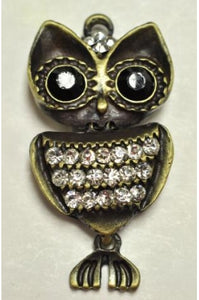 Fish-Owl Pendant Charm (55mmx30mm) #FO-1