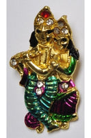 Golden-Color Radha Krishan Pendant-1 (37.5mmx21mm)