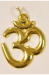 Golden-color OM pendant 25.5mmx30mm