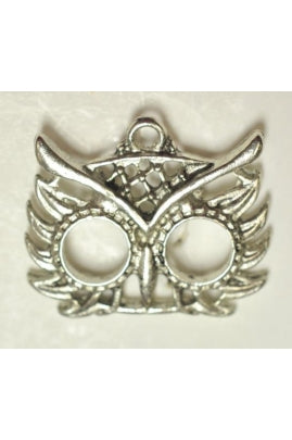 Silver-Color Half Mask Pendant Charm (17mmx22mm)