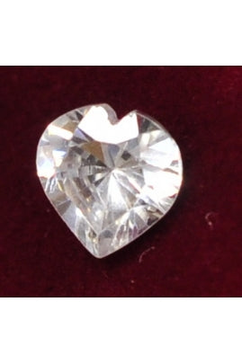 Heart-Shape Cubic Zirconia 8mm