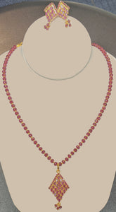 Ruby Necklace Set # J-1418R