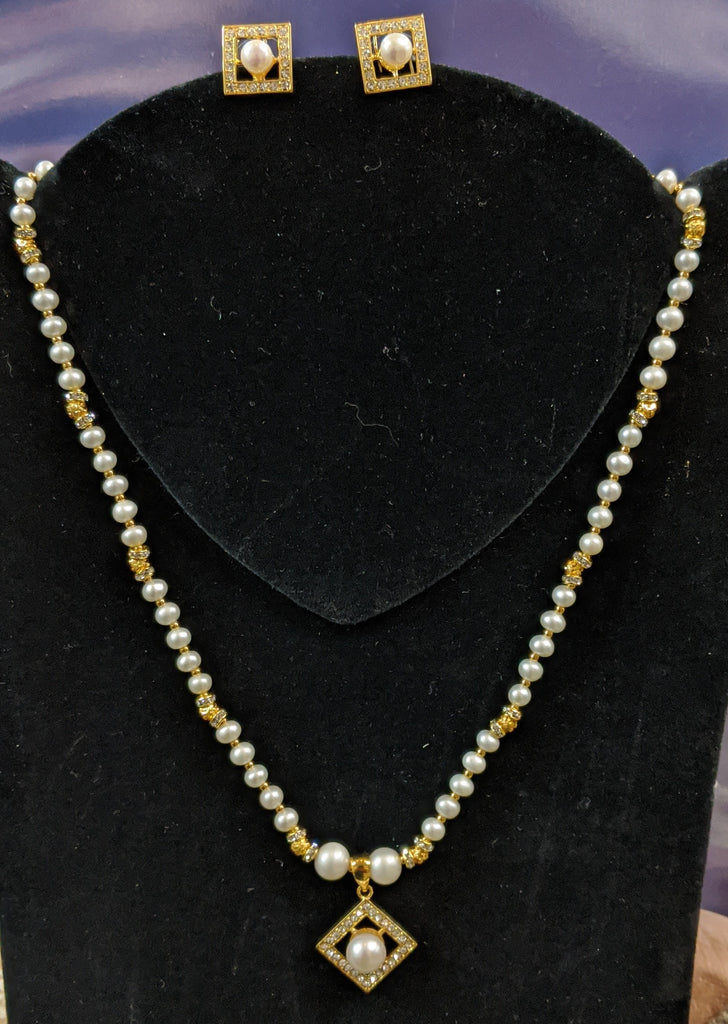 Pearl Necklace Set #P-29