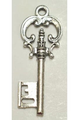 Silver Key Charm (40.5mmx17mm) #SKC
