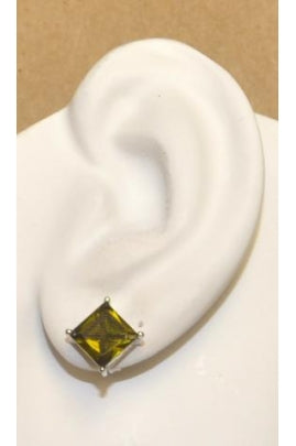 Olive-Green Cubic Zirconia