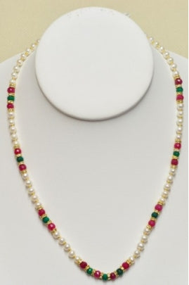 Pearl, Emerald, and Ruby Necklace #PER-1
