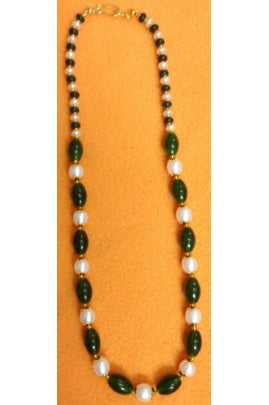 Jade and Pearl Necklace Chain #JP-1