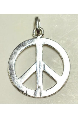 Silver-Color Peace Charm (22.2mmx22.2mm) #SPC