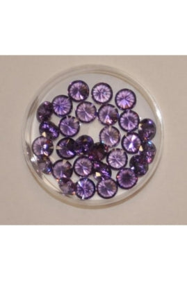 Amethyst Color Round Shape Cubic Zirconia Stone 7mm