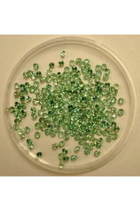 Cantaloupe Green Cubic Zirconia 2mm