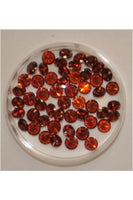 Garnet Color Round Shape Cubic Zirconia Stone 5mm (Sold per 1 single stone)