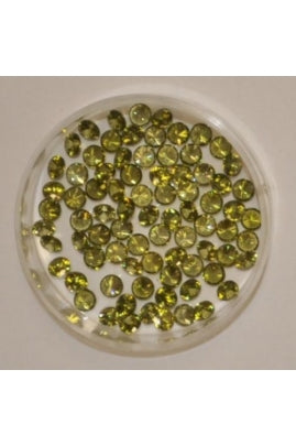 Olive Color Round Shape Cubic Zirconia Stone 4mm (Sold per 1 single stone)