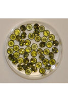 Olive Color Round Shape Cubic Zirconia Stone 5mm