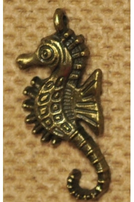 Sea Horse Charm (Brass) 27mmx13mm