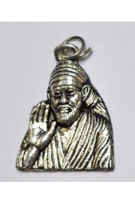 Silver-Color Sai Baba Pendant 28.4mmx25.4mm