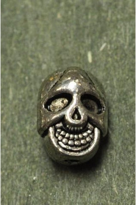 Silver Color Skull Bead 7.5mmx10.5mm