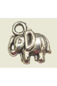 Silver-Color Super Cute Elephant Charm (12mmx9mm) #S-CUTE