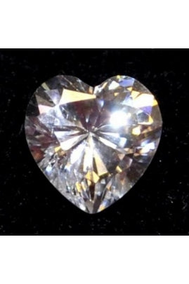Swiss-Cut Heart Shape Cubic Zirconia 10mm