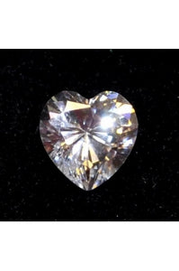 Swiss-Cut Heart Shape Cubic Zirconia 8mm