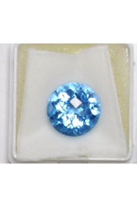 Swiss Blue Topaz Circle 12mm (8.15 cts)